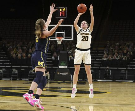 Iowa Women's Basketball vs Michigan